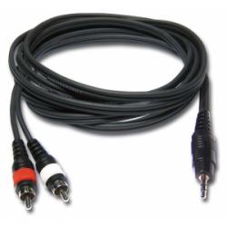 Câble Module Jack 3,5 Stéréo - Double RCA - ordi